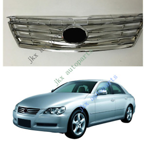 ABS Silver Front Center Bumper Grille Grill Fit For Toyota Mark X / Reiz 2005-09