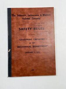 Railroad Delaware Lackawanna Western Railroad Co Safety Rules Jan 1953