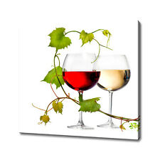White red wine canvas print picture wall art home decor free fast delivery
