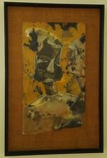 Vintage  Original Painting - Plaster Artwork - VGC - Framed and Mounted on Weave