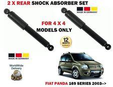 Per FIAT PANDA 169 1.2 1.3d 4x4 modelli 2003 - > 2x Posteriore AMMORTIZZATORE Shocker Set