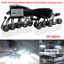 LED 10 light Car Daytime Running lights Turn Meteor Shower Hawkeye Driving Lamps