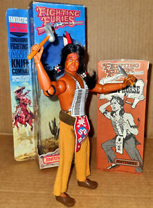 """Vintage Matchbox FIGHTING FURIES Indian CRAZY HORSE 8"""" Action Figure MIB Mego"""