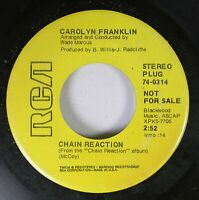 Hear! Northern Soul Promo 45 Carolyn Franklin - Chain Reaction / Everybody'S Tal