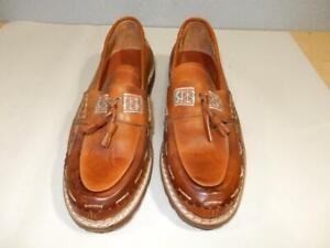 Mens Tassle Loafers Shoes Imported From Argentina-Hand Sewn-Size 8 1/2 Brown