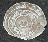 Rare Silver Fatimid 1/2 Dirham Islamic Coin North Africa To Identify