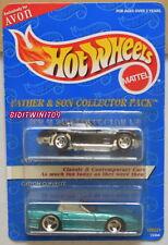 HOT WHEELS FATHER & SON 2 CAR PACK SPLIT WINDOW CORVETTE - CUSTOM CORVETTE