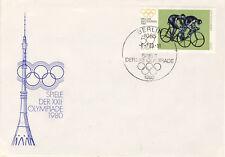 Ersttagsbrief DDR MiNr. 2530, Olympische Sommerspiele, Moskau (II)