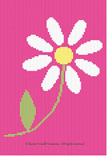 Crochet Patterns - DAISY FLOWER Graph Afghan Pattern