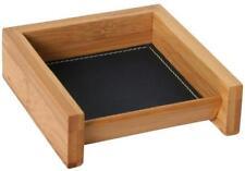 Edle Notizzettel Aufbewahrung Zettelbox Bambus Leder Büro Schreibwaren