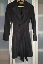 SUNNY GIRL SLEEK LINES BLACK TRENCH WITH BELT SIZE 8