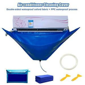 Air Conditioner Waterproof Cleaning Cover Dust Washing Clean Protector Bag +Pipe