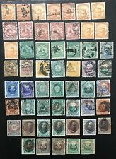 PERU.GOOD UNCHECKED MOSTLY USED CLASSIC LOT OF 54 STAMPS. CANCELS, OVERPRINTS.