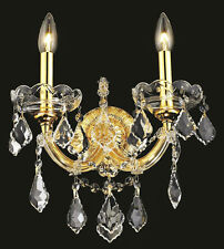 World Capital Maria Theresa 2 Light Crystal Wall Sconce in Gold