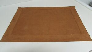 Suede Placemats Lot of 7 Rust  Very Good Condition