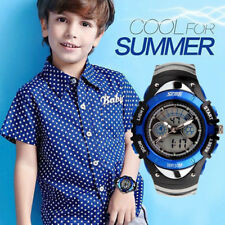 Kids Boys Girls Multifunction Sports Analogue Digital Wrist Watch Waterproof  UK