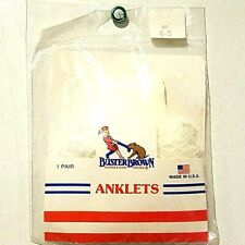 Anklets Socks by Buster Brown Baby Girls Size 3-12M Shoe Size 4-5 White Ruffles
