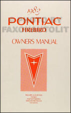 ORIGINAL 1983 Firebird and Trans Am Owners Manual MINT Pontiac Owner Guide Book