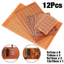 12pcs Printed Circuit Board PCB Prototype Track Breadboard   Stripboard Strip
