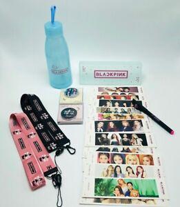 Kpop Black Pink Fans Set 27 Pcs Glass Water Bottle Bookmarks Fans Gift Blink