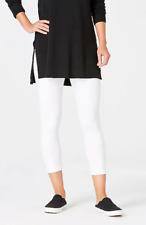 NWT - J.JILL Women's 'PIMA'' White CAPRI LEGGINGS - S (Petite)