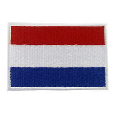 NETHERLANDS HOLLAND Nation Flag Logo Embroidered Iron On Patch #PFGNL1
