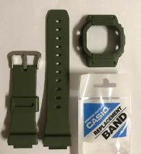 CASIO Original G-shock Watch Band  DW-5600M-3 Green Strap & Bezel  DW5600M