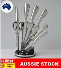 Stainless Steel 8PC Kitchen Chef Knife Block Set Knives Scissor Sharpener NEW