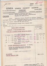 JOHANNESBURG, Brief 1963, UNIA Union Indent Agents