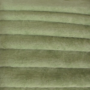 "1/6 yd VIS1 Antq Sage INTERCAL 6mm ""Flat"" Med. Dense German Viscose Fur Fabric"