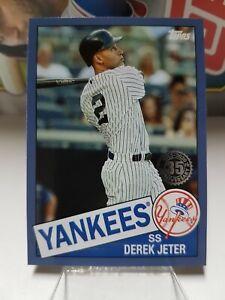 2020 Topps Update 1985 Topps Baseball Blue #85TB-1 Derek Jeter