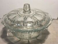 KIG INDONESIA, Clear Glass CANDY DISH with Lid by KIG Indonesia