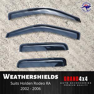 Premium Weathershields Window Visors for Holden Rodeo RA 2002 - 2006 Dual Cab
