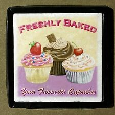 Freshly Baked Cupcakes - Marble Art Tiles