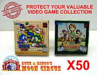 50X NEO GEO POCKET / COLOR CIB GAME - CLEAR PLASTIC PROTECTIVE BOX PROTECTORS