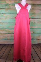 Studio Ease Women's orange Long, sleeveless jumper dress Sz 16