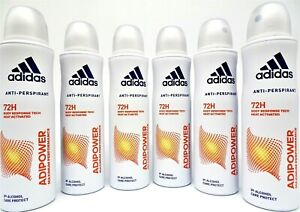 ADIDAS ADIPOWER Anti-Transpirant Spray Deospray 72h Schutz 6 x 150 ml