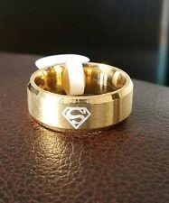 Men Superman Ring Silver Gold Black Blue Justice League Krypton Logo Kal-El 9-12