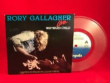 "RORY GALLAGHER Wayward Child 1980 UK 7"" CLEAR vinyl single EXCELLENT CONDITION"