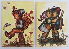 Künstlerkarten Lot 2 Postkarten Kinder Motive gebraucht & frankiert Niederlande
