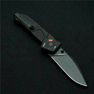 Drop Point Folding Knife Pocket Hunting Survival Tactical Titanium Alloy Handle