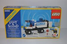 01375 LEGO Town vintage - Light & Sound Mobile Police Truck 6450 BOX & PLAN MIB