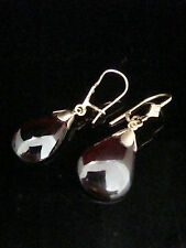 9 Carat Earrings Garnet Yellow Gold Vintage Fine Jewellery