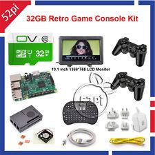 Raspberry Pi 3 Model B 32GB Retropie Retro Game Ultimate Kit + 10'' LCD Monitor