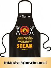 Schürze mit Wunschname - Grill Regel Nr. 2 - Steak statt Gemüse – Grillschürze