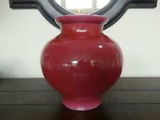 Chinese Porcelain Ruby-Pink Enameled Vase Antique Qing Jar with Qianlong Mark