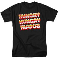 HUNGRY HUNGRY HIPPOS VINTAGE LOGO Licensed Adult Men's Graphic Tee Shirt SM-6XL