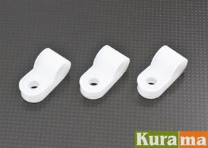 "100pcs 6.4mm 1/4"" Nylon White Cable Hose P Clamp Clips C R"