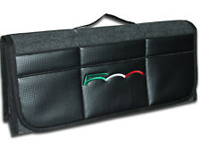 Car Boot Tidy Organizer , Carbon Fiber Leatherette front , Inspired by Fiat 500