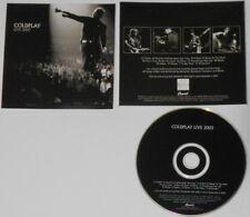 Coldplay - Live 2003 -  U.S. promo cd